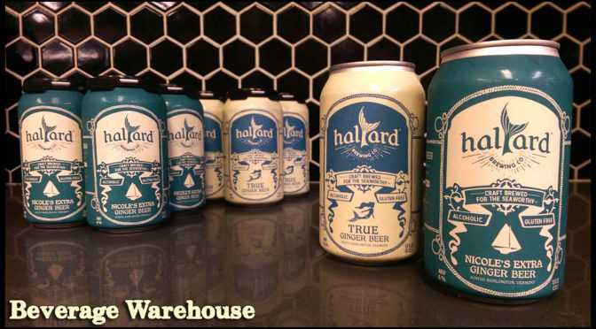 Halyard Brewing | True Ginger Beer | Nicole's Extra Ginger Beer | Gluten Free | 4pk Cans $8.99